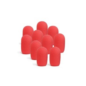 replacement-fitness-mic-windscreens-10-pack-red
